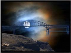 Vantage Bridge ~ Columbia River in Washington State (Onasill ~ Bill Badzo) Tags: county bridge sunset wild sculpture horse moon lake david river point us washington site highway arch view state dam grant columbia hwy wa ponies towns 90 vantage wanapum i govedare onasill