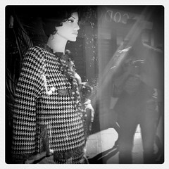 I'm watching you (Monia iPhoneography) Tags: cameraphone street venice bw reflections monia vetrina venezia iphone riflesso iphone4 iphoneography lemecam drmonia moniaiphoneography
