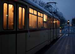 night train (ewitsoe) Tags: street night train 35mm nikon warm europe tram poland polska ticket transit poznan nihgt steamedup d80 ewitsoe forgottopuchmyticketandalmostgotaticket visitpoland