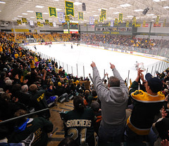 The Clarkson men's hockey team defeated SLU in Cheel Arena this January in front of a VERY enthusiastic crowd! (Clarkson University) Tags: clarkson clarksonhockey