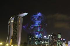 amazing lights (Andrew images) Tags: skyline architecture night am singapore cityscapes marinabay