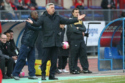 Ancelotti et Claude Makelele