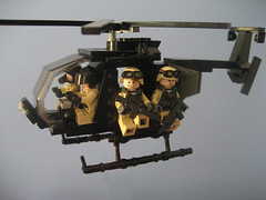 MH-6 Little Bird (Da-Puma) Tags: black desert lego hawk down helicopter prototype heli brickarms