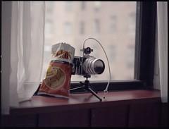 Still Life With Doritos (TheRobbStory) Tags: stilllife newyork color film zeiss iso800 hotel fuji scan hasselblad pro epson f4 hudsonhotel doritos swc cameraporn 500cm sonnar 150mm v500 800z robbhohmann
