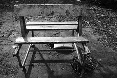 (pointbreaker) Tags: park old white black abandoned broken amusement belgium decay bank times dadipark