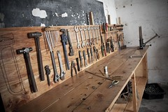 01 Dec 11 (jasonelliotfinch) Tags: bicycle kenya tools gh workbench mombasa toolboard
