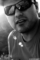 Self portrait | 2011 (CHRI$T1AN) Tags: portrait blackandwhite bw sun selfportrait blancoynegro sol sunglasses méxico canon mexico rebel retrato autoretrato sunny puebla mejico soleado 2011 t1i canont1i
