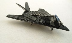 F-117A Nighthawk updated (1) (Mad physicist) Tags: lego military jet lockheed usaf nighthawk f117 f117a