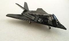 F-117A Nighthawk updated (1) (Mad physicist) Tags: lego military jet lockheed usaf nighthawk f117 f117a