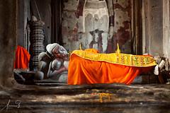 Buddha Adorned in Orange Angkor Wat