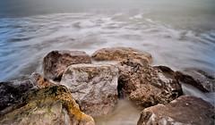 Beach Rocks (Mark-Newman) Tags: longexposure sea blackandwhite beach landscape shore groyne slowshutterspeed