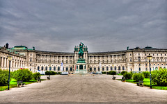 Hofburg New Palace - Vienna Austria (mbell1975) Tags: vienna wien new statue austria europe with royal eu charles palace residence schloss equestrian hdr neue burg austrian hofburg residenz heldenplatz archduke