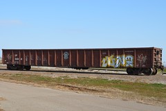 Graffiti on SP 365041 20120108 Altus OK (rmccallay) Tags: graffiti sp gondola southernpacificlines