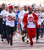 Orits� Williams, Aston Merrygold and JB Gill of JLS Sainsbury's Sport Relief Mile 2012 - London