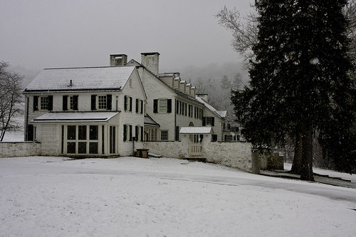 Valley Forge park in snow - P C Knox estate - Library