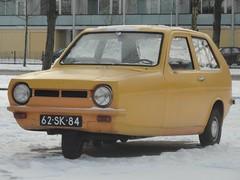 1977 Reliant Robin 850 (Skitmeister) Tags: auto winter snow holland classic netherlands car vintage sneeuw voiture oldtimer klassiker pkw klassieker carspot 62sk84 skitmeister