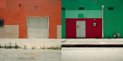 diptych. los angeles, ca. 2011. (eyetwist) Tags: california street red orange 6 green 120 6x6 mamiya film analog mailbox mediumformat square vent la losangeles los weeds diptych downtown industrial angeles kodak ishootfilm drain socal meter analogue mamiya6 curb portra dtla ai rollup waal emulsion primes angeleno eyetwist mamiya6mf ishootkodak epsonv750pro aicolor recentlyprocessedfilm aihollywood filmexif filmtagger eyetwistkevinballuff
