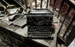 MS word 1895 edition (odin's_raven) Tags: urban house typewriter exploring explorer manor raven hdr ue urbex abadoned odins talkurbex odinsraven abadonedmanorhouse