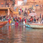 "Sunrise Boat Ride on the Ganges <a style=""margin-left:10px; font-size:0.8em;"" href=""http://www.flickr.com/photos/14315427@N00/6880316891/"" target=""_blank"">@flickr</a>"