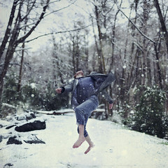 Snowfall. (David Talley) Tags: winter mountain snow cold fall jump falling snowing february snowfall hovering hover levitate 365project davidtalley