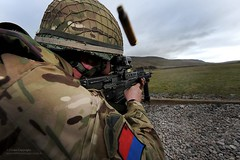 British Army Soldier Firing SA80 on a Practice Range (Defence Images) Tags: uk man male training soldier army gun military equipment weapon british bullet britisharmy defense a2 defence firing cartridge firearm personnel sa80 assaultrifle 16airassaultbrigade 556mm smallarms nonidentifiable 7thparachuteregimentroyalhorseartillery7pararha