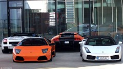 Lamborghini  (J.B Photography) Tags: auto orange white car race speed germany photography power performance spyder exotic lp jb lamborghini luxury supercar sv v10 gallardo sportscar v12 meilenwerk 6704 carspotting 6404 hypercar worldcars bblingen2012