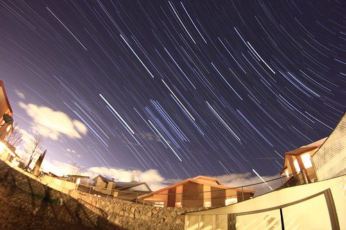 Star Trails in the backyard