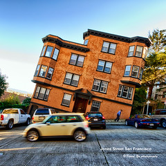 Jones Street San Francisco (davidyuweb) Tags: sanfrancisco california street usa streets building vertical architecture jones san francisco view shingles horizon steps level instead steep sfist