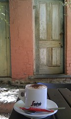 Bold Cafe (Planettrekker) Tags: door old coffee cafe australia cappuccino bold chewton