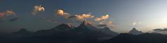 Poonhill-Panorama (moksimil) Tags: morning schnee nepal panorama clouds sunrise trekking canon eos dawn wolken photomerge dmmerung himalaya eis sonnenaufgang annapurna wandern montains nilgiri hss poonhill gipfel trekken machhapuchhare annapurnasouth punhill hiunchuli 550d machapuchare breakofdawn annapurna1 poonhillpanorama moksimil