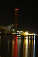 Leaning Tower of Kilroot (Mizpah93) Tags: longexposure night industrial northernireland powerstation carrickfergus kilroot
