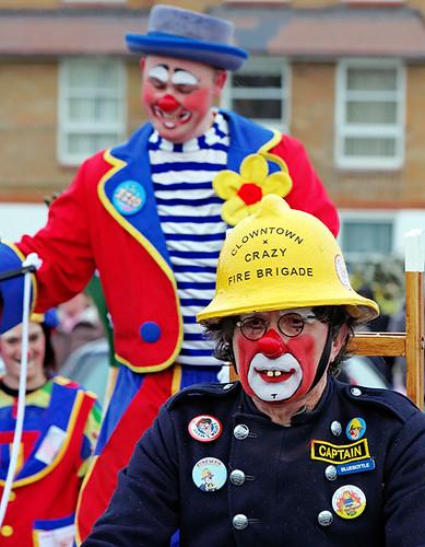 Clowns international - Fireman Bluebottle and Izzo