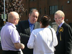"First Minister Alex Salmond with voters and John Mason MSP • <a style=""font-size:0.8em;"" href=""http://www.flickr.com/photos/78019326@N08/6981883149/"" target=""_blank"">View on Flickr</a>"