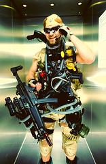 The Brain Behind The Gun (cszar) Tags: male model nikon gun military elevator nikkor speedlight softbox mp5 aufzug cls airsoft strobist rawdeveloper lulzim d700 2470mmf28g