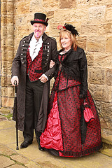 Whitby Goth Weekend 16 (Beachcomber ( By The Bay )) Tags: sea beach canon fun eos bay coast seaside interesting victorian coastal coastline northeast seashore fascinating northeastcoast whitbygothweekend coastallife 450d canoneos450d newbigginphotographygroup beachcomberbythebay