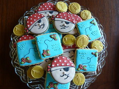 Pirate Themed B-Day Cookies