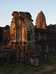 Angkor Wat exterior at sunset