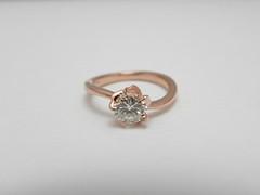 桜の花モチーフのエンゲージリング Cherry blossom motif ring (jewelrycraft.kokura) Tags: 桜 指輪 ダイヤモンド ピンクゴールド ダイヤ ゆびわ