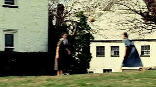 amish girls / volleyball