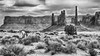 Old West - explore (Marvin Bredel) Tags: arizona horses blackandwhite clouds landscape sand rocks totempole monumentvalley oldwest lookofthesouthwest marvinbredel