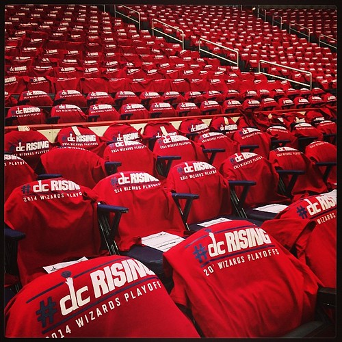 A sea of red t-shirts. #Wizards #DCrising.