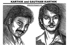 KARTHIK Actor and his son Actor GAUTHAM KARTHIK - STAR FAMILY - Actor KARTHIK Wife and Father MUTHURAMAN also a Famous Actor - Art by AniKartick,Chennai,India (Artist ANIKARTICK,Chennai(T.Subbulapuram VASU)) Tags: art artist gautham oviyam kadal indrajith chennaiartist karthikactor tamilnaduartist chennaiart sippai oviyar tamilnaduoviyar actorkarthik gauthamkarthikactor kadalmovie actorkarthiksongauthamkarthik yennamoyedho vairajavai sippaai endhirajith gauthamkarthikfilms gauthamkarthikmovies gauthamkarthikstills gauthamkarthikphotos gauthamkarthikpictures sippaistills sippaimovie yennamoyedhomovie sippaisongs sippaaisongs