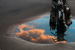 Untitled (mnmlong) Tags: morning reflection clouds puddle hatteras shipwreck firstlight flambeau