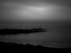 Beach in Scotland at dawn (bladeshunner1) Tags: blackandwhite beach water sunrise dawn blackwhite noir outdoor