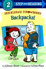 Freckleface Strawberry:  Backbacks! (Vernon Barford School Library) Tags: new fiction 2 two food students kids children reading book ginger high strawberry mess reader library libraries reads books redhead read paperback moore cover snack backpacks messy backpack junior second novel covers snacks freckles bookcover middle redhair vernon quick recent qr grade2 bookcovers paperbacks julianne novels freckled fictional messes freckle knapsack step2 readers pham barford juliannemoore softcover freckleface knapsacks quickreads quickread frecklefacestrawberry vernonbarford rl2 softcovers leuyenpham readinglevel stepintoreading leuyen 9780385391948