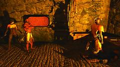 22 (Beth Amphetamines) Tags: wallpaper wearing dead screenshot holding fort erin stranger armor thief hood filthy bandits nord blackjack furs kidnappers redguard argonian skyrim greymoor thief4 tembtra asarynn