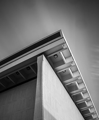 LBJ Presidential Library and Museum (DaveWilsonPhotography) Tags: building monochrome museum architecture austin ut texas exterior library tx universityoftexas lbj lyndonbainesjohnson nd1000 worldwidephotowalk scottkelbyworldwidephotowalk wwpw