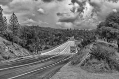RHM_1663-1393-1395.jpg (RHMImages) Tags: california bridge trees blackandwhite bw monochrome sign landscape us nikon unitedstates auburn historic foresthill roadway d810