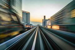 Monorail (Aresio) Tags: japan train tokyo twilight track motionblur monorail fugue