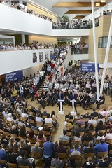 PM and George Osborne speak at B&Q Headquarters (The Prime Minister's Office) Tags: uk london europe eu chancellor pm primeminister 10downingstreet georgeosborne primeministerdavidcameron georginacoupe